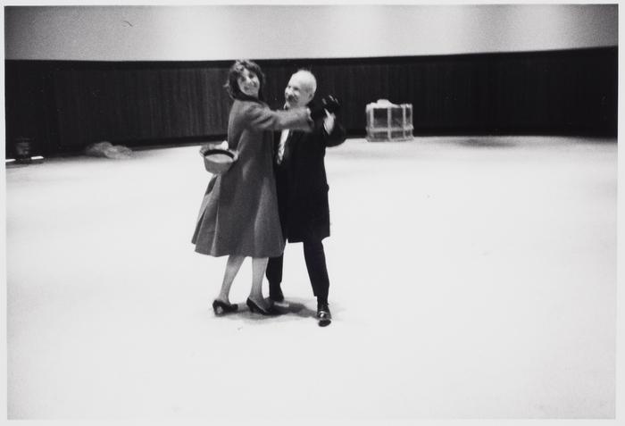 Helen Frankenthaler and Barnett Newman, construction site of World's Fair, New York