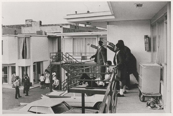 [Body of Martin Luther King Jr., Lorraine Motel, Memphis, Tennessee]