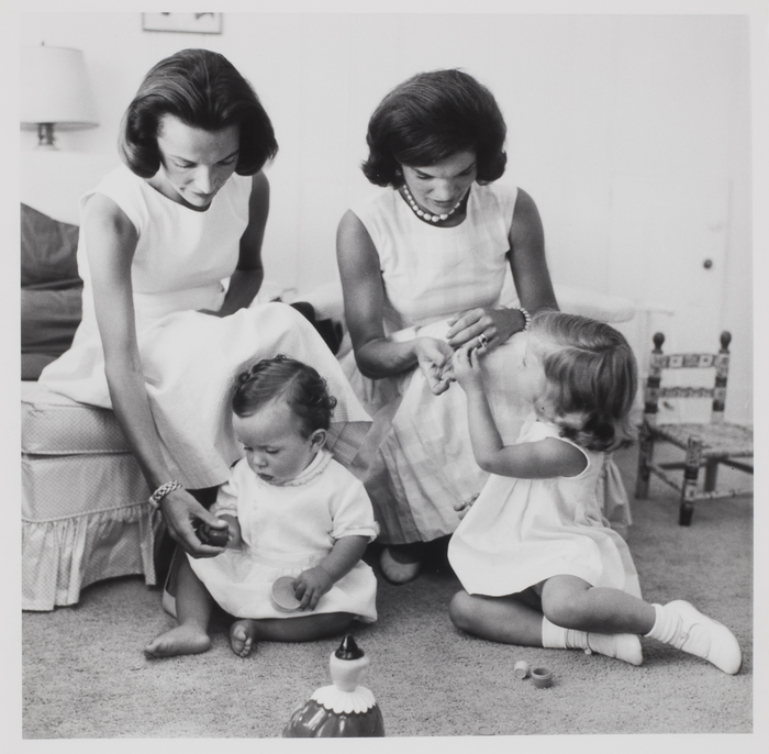 Anthony Radziwill and Caroline Kennedy with their mothers