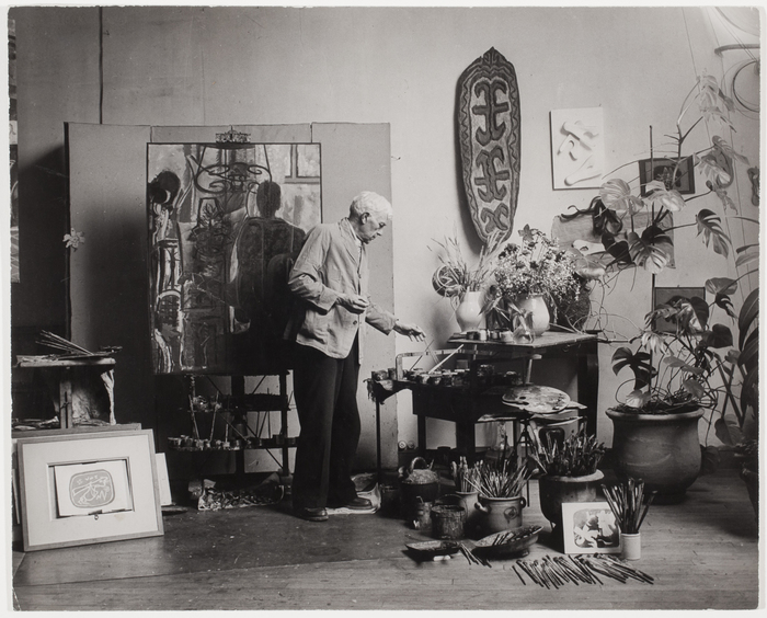 [George Braque in his studio]