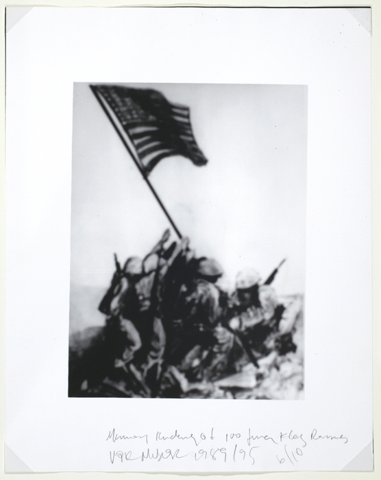 Memory Rendering of Flag Raising at Mount Subayachi, Iwo Jima
