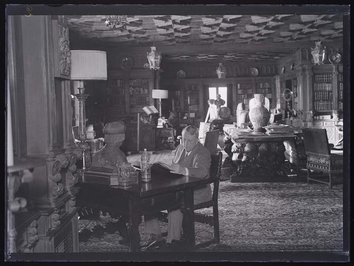 [William Randolph Hearst in his Study, Hearst Ranch, San Simeon, California]