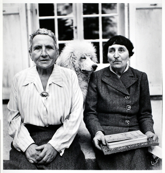 Gertrude Stein and Alice B. Toklas with Basket
