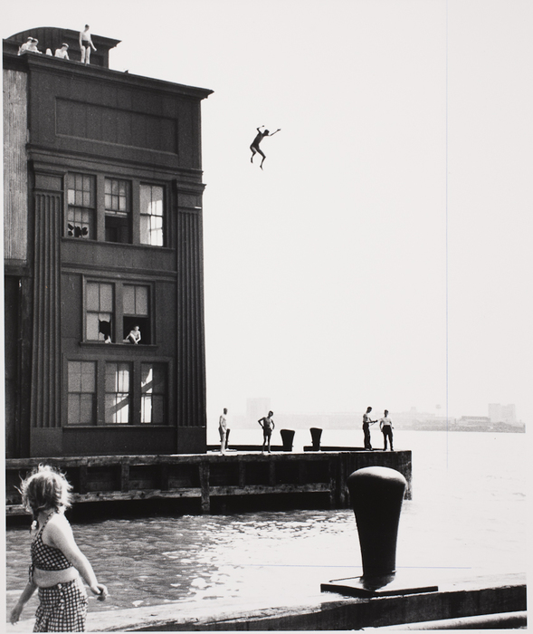 From Gansevoort St. Pier, Boys Swimming in Hudson River