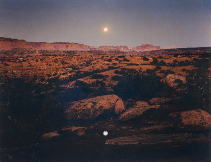 Moonrise over Pie Pan, Capitol Reef National Park, UT