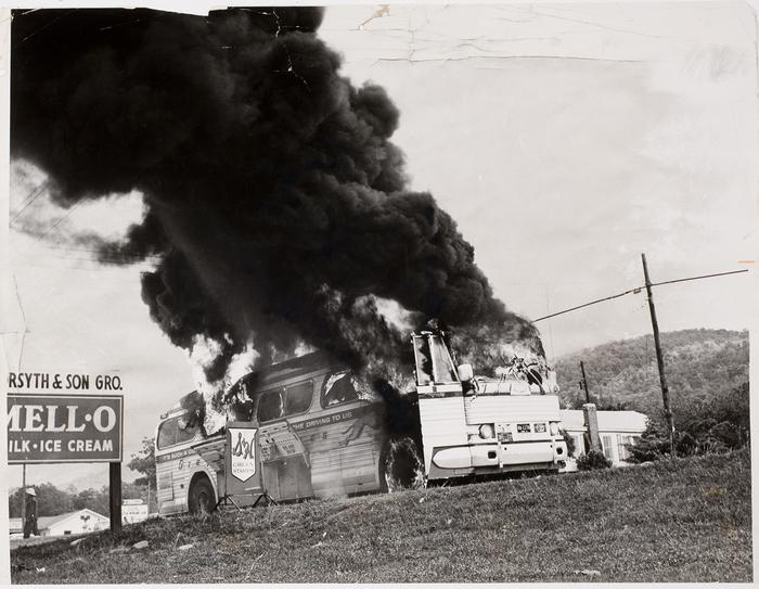 Burning Bus in Alabama