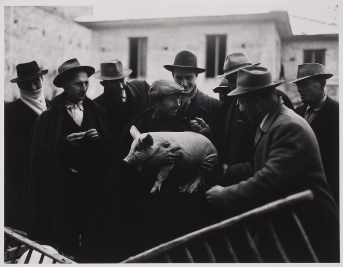 Farmers in Market, Tocco, Italy