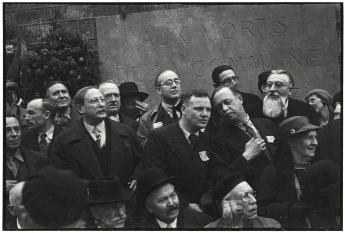 Léon Blum, Maurice Thorez and André Marty in front of the Mur des ...
