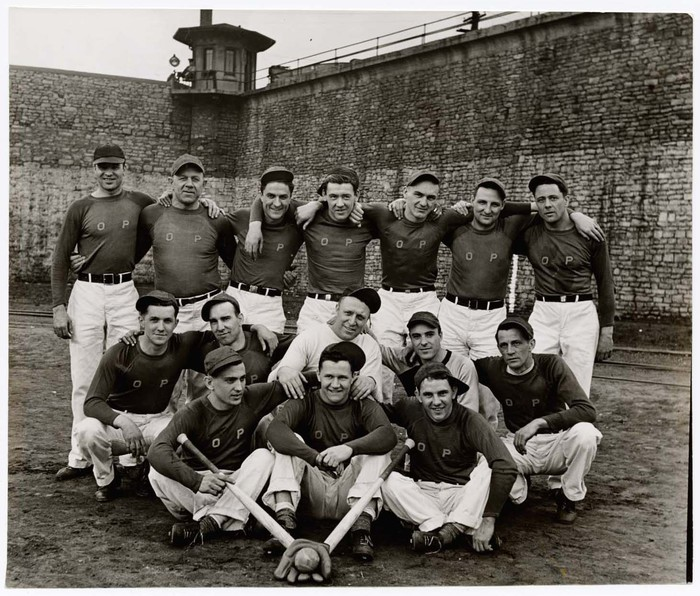 [White, All- Stars Baseball team of prisoners at Ohio Penitentiary.]