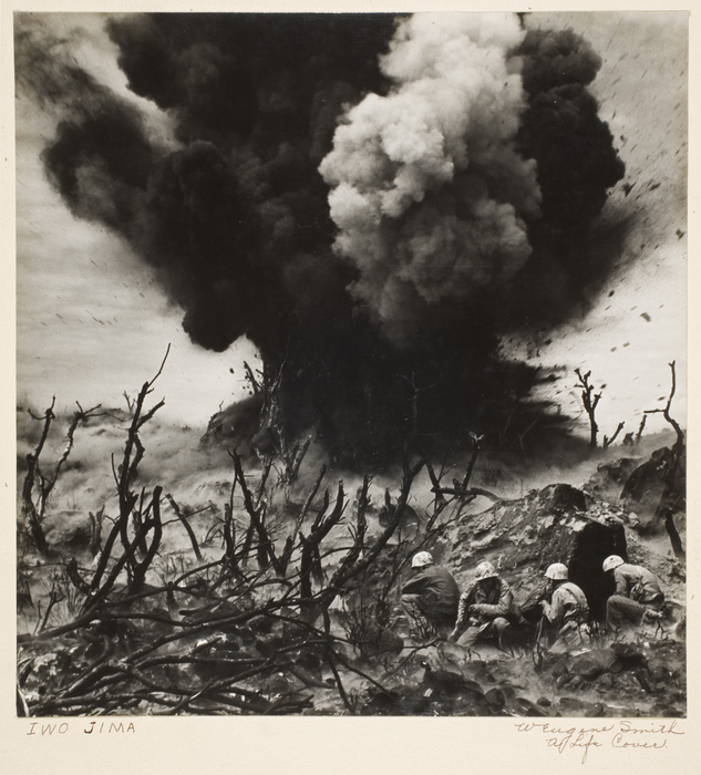 Marine Demolition Team Blasting Out a Cave on Hill 382, Iwo Jima