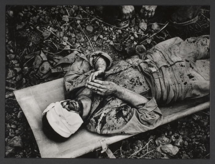 Soldier Praying, Battle for Rocky Crags, Okinawa