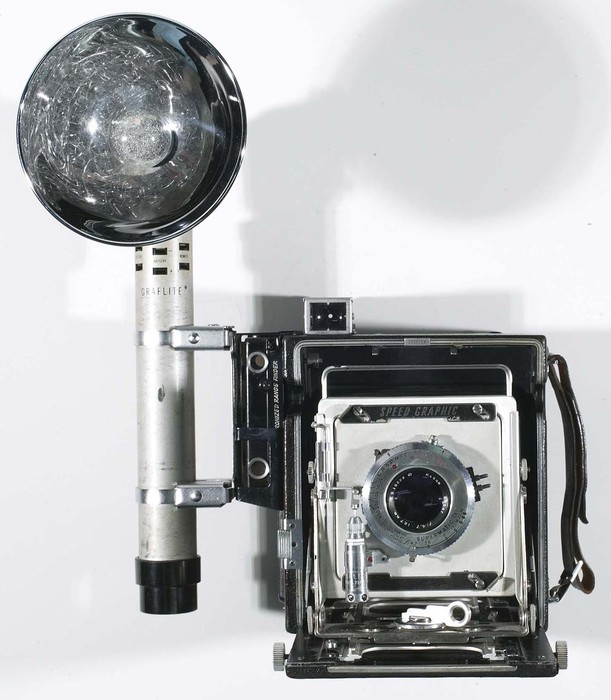 [Weegee's Speed Graphic camera]