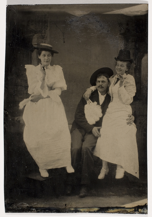 [Unidentified Man and Two Women Levitating]