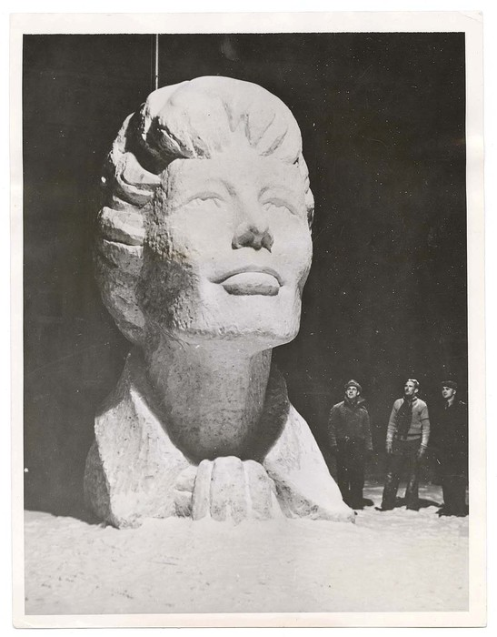 [20-Foot Snow Sculpture of Amelia Earhart, Virginia]