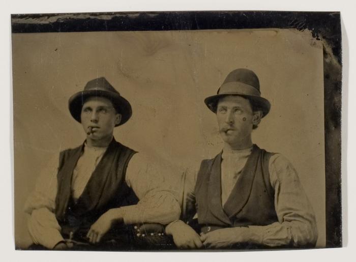 [Two Unidentified Men Smoking Cigars]