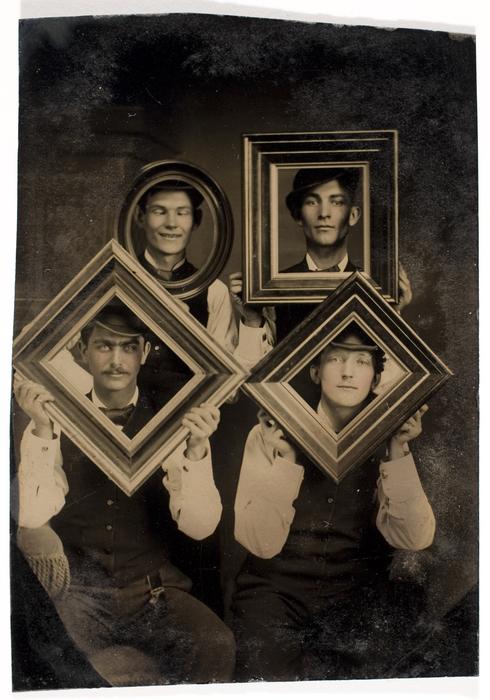 [Four Unidentified Men in Frames]