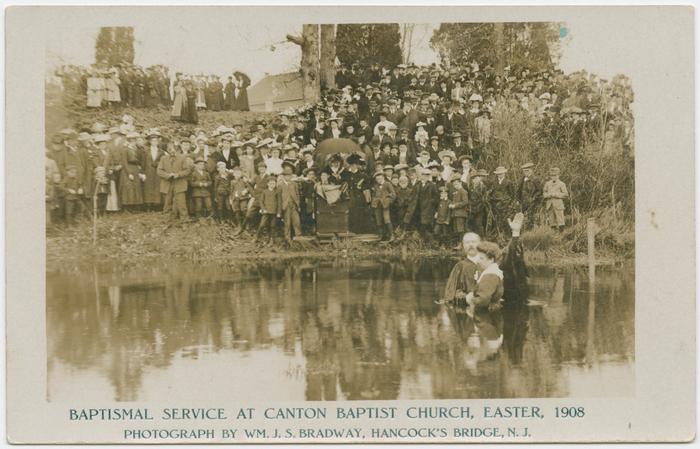 Baptismal Service at Canton Baptist Church, Easter