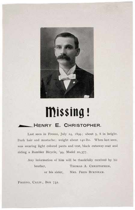Missing! Henry E. Christopher