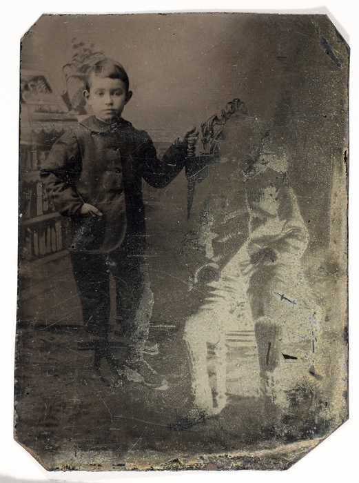 [Double Exposure of Unidentified Boy]