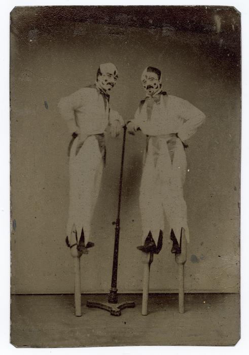 [Two Clowns on Stilts]