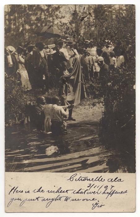 [River baptism, Citronelle, Alabama]