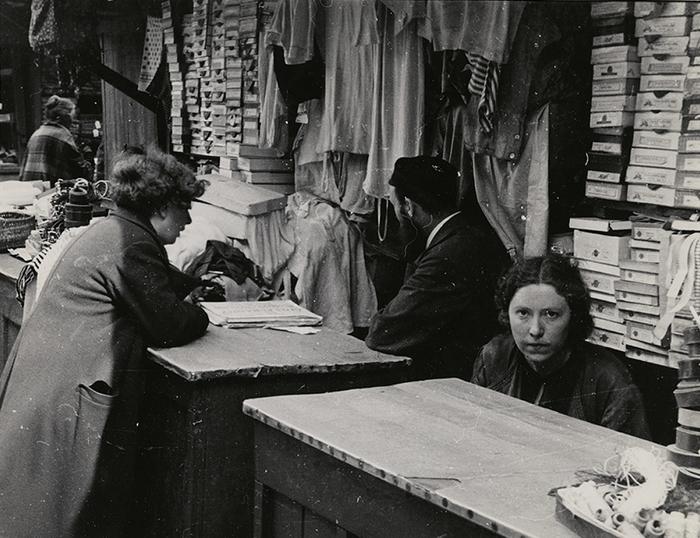 Haberdashery in the open market, Warsaw