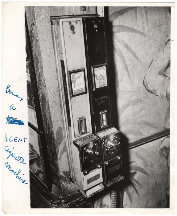 Bowery, a 1 Cent Cigarette Machine