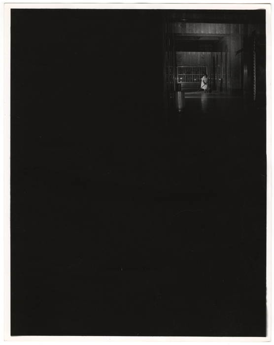 [Cleaning woman working the night shift at City Services (AIG) Building, New York]