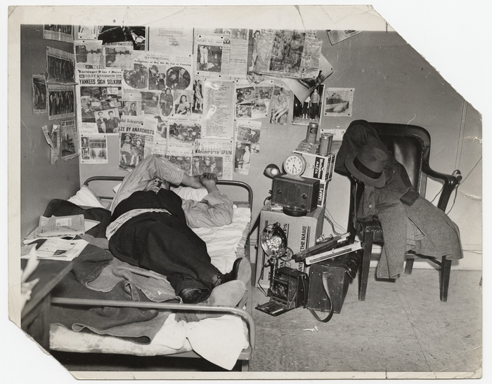 Weegee Lying On Bed In His Studio New York International Center