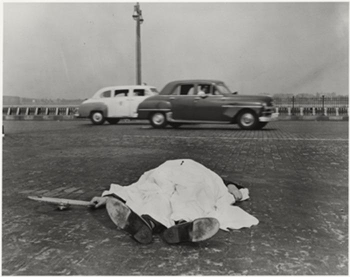 Auto accident victim, New York] | International Center of Photography