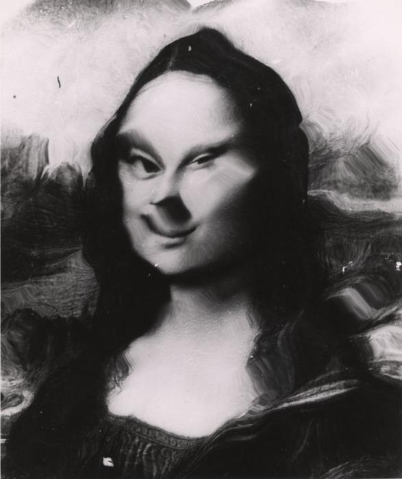 [Mona Lisa distortion]