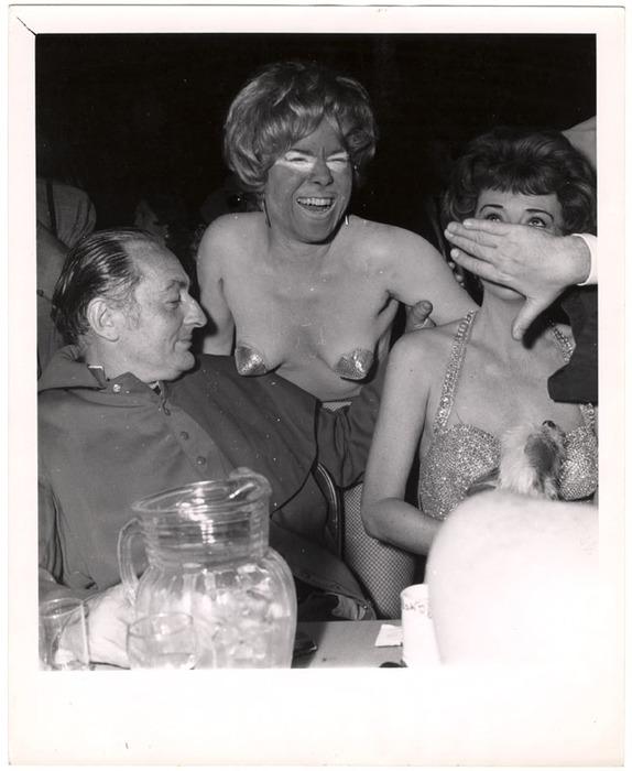 man showgirl and gypsy rose lee at first fantasmorgorio ball at