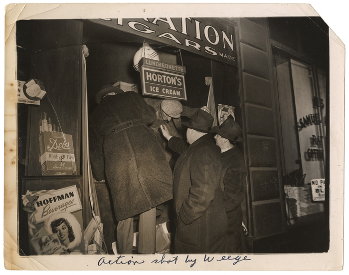 Action shot by Weegee