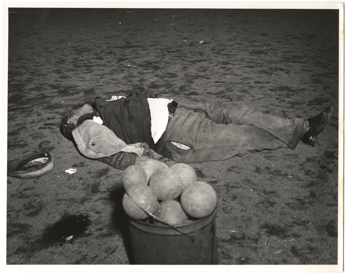 [Body of man shot after a game of bocci, New York]