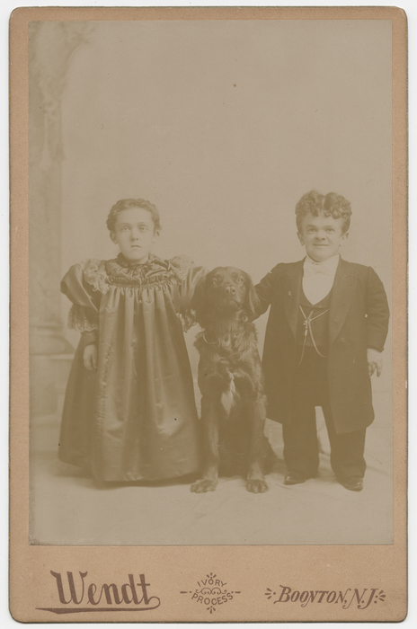 [Noble George Washington Winner and Mary Jane Winner with Dog]
