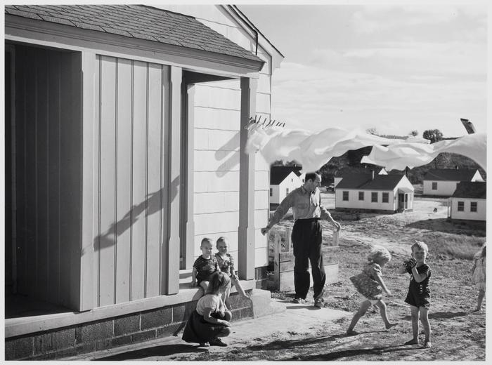 Defense worker's home on Carson Street. Sunset Village, Radford, Virginia. FSA (Farm Security Administration) project