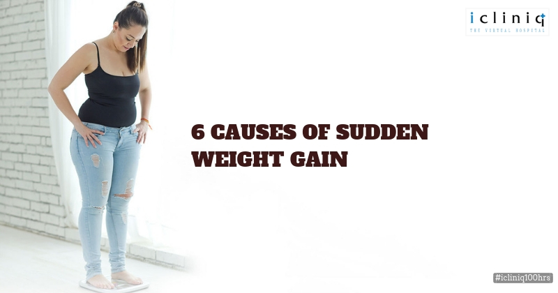 6 Causes Of Sudden Weight Gain