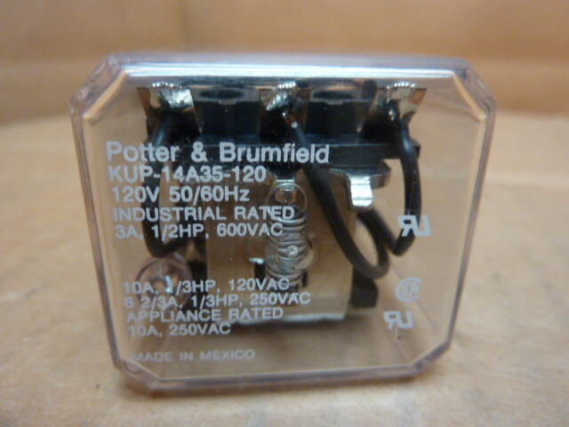 potter brumfield relay kup 14a35 120 used 22386 ebay. Black Bedroom Furniture Sets. Home Design Ideas