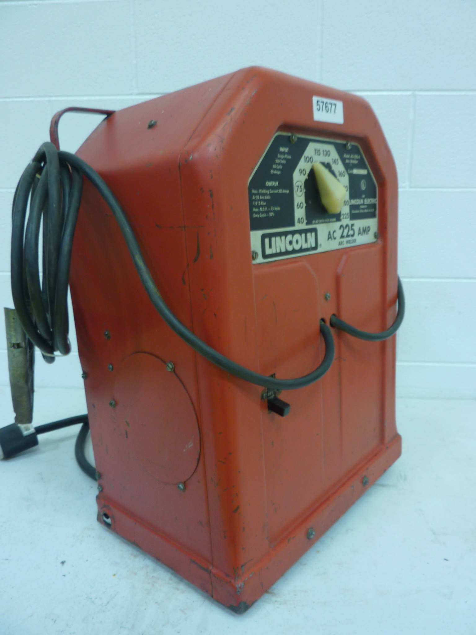operator's manual register your machine  am working from memory one because  not owners manual  lincoln welder ac  low alloy, ohio lincoln welder ac 225s