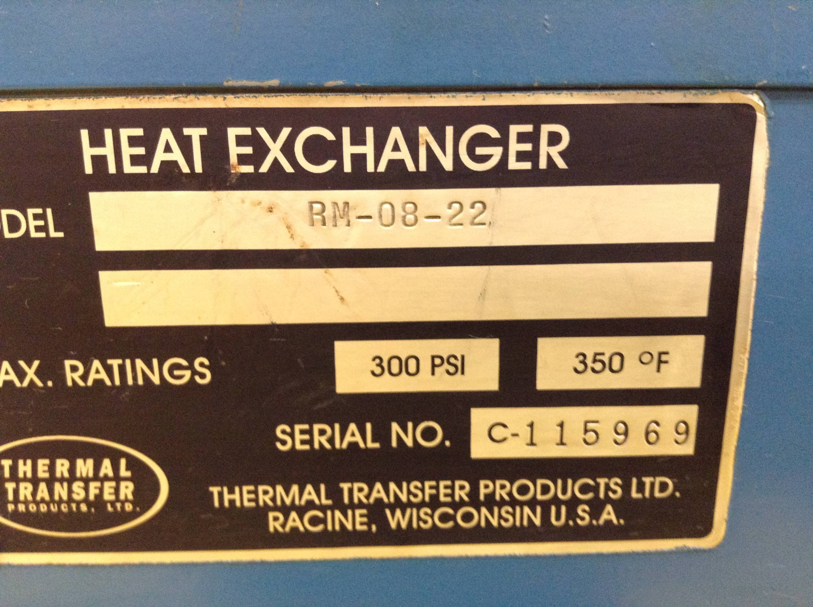 Thermal Transfer Hydraulic Power Pack Rm 08 22 Used 70166