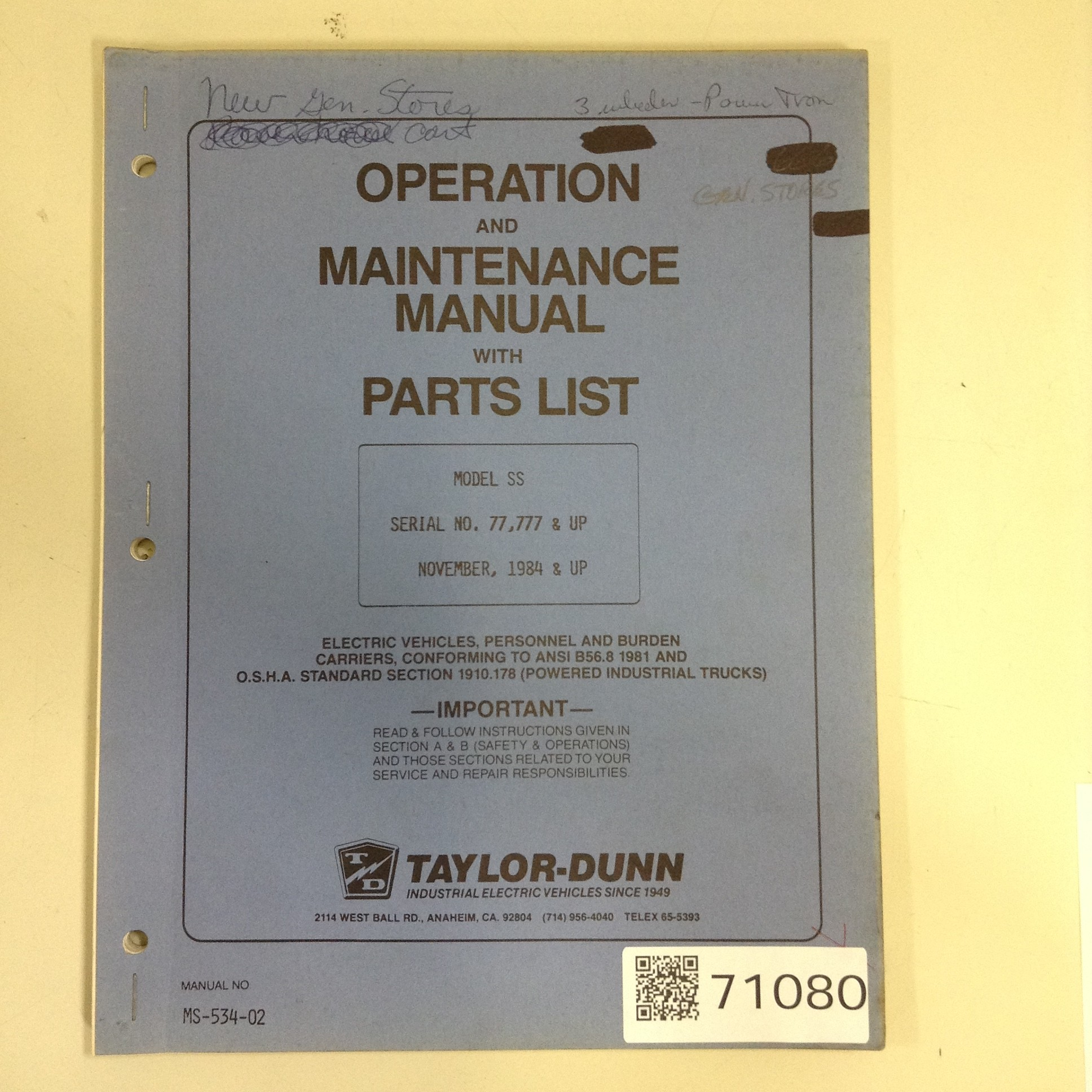 Taylor Dunn Manuals - User Guide Manual That Easy-to-read •