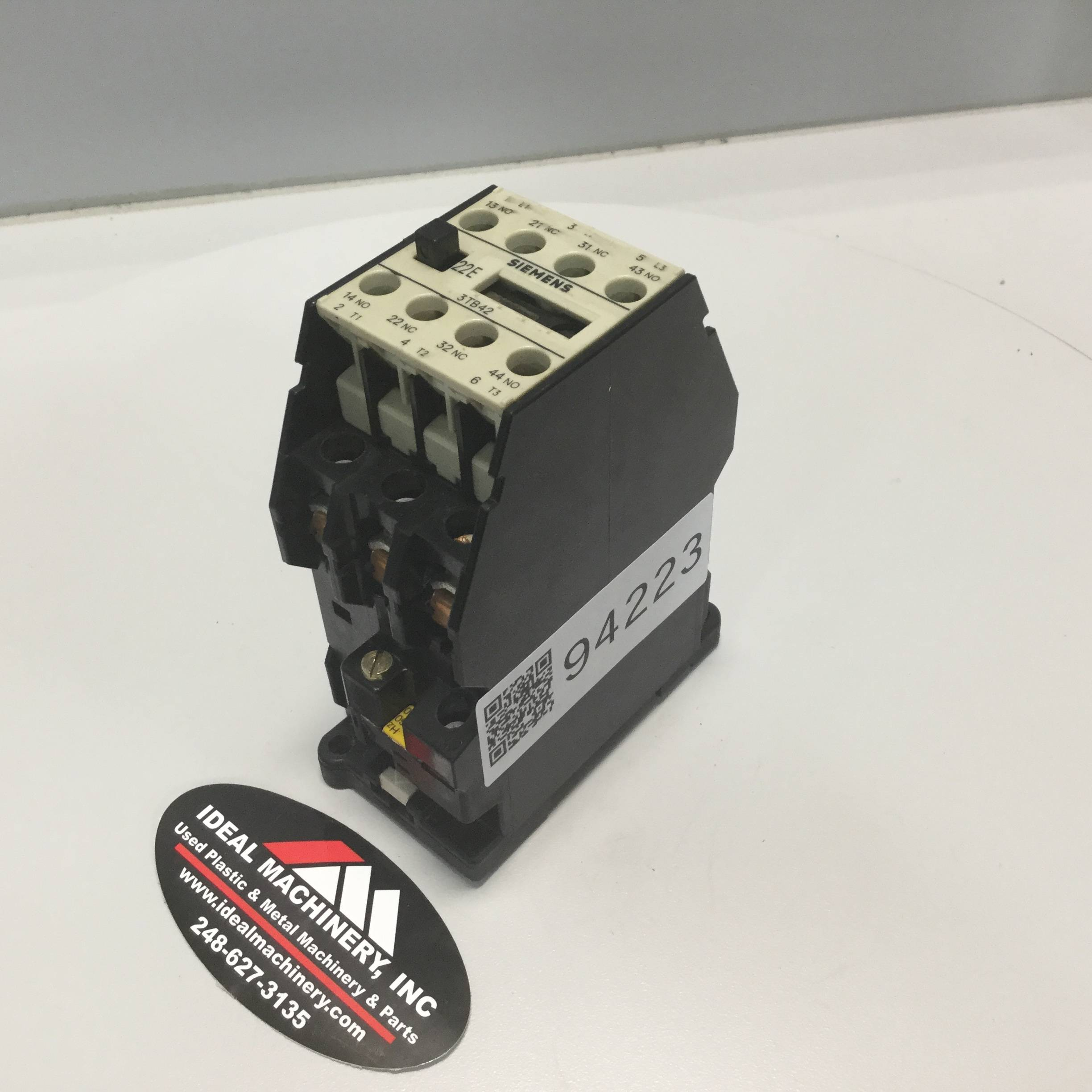 Image is loading Siemens Contactor 3TB4217 0A Used 94223 Siemens Contactor 3TB4217 0A