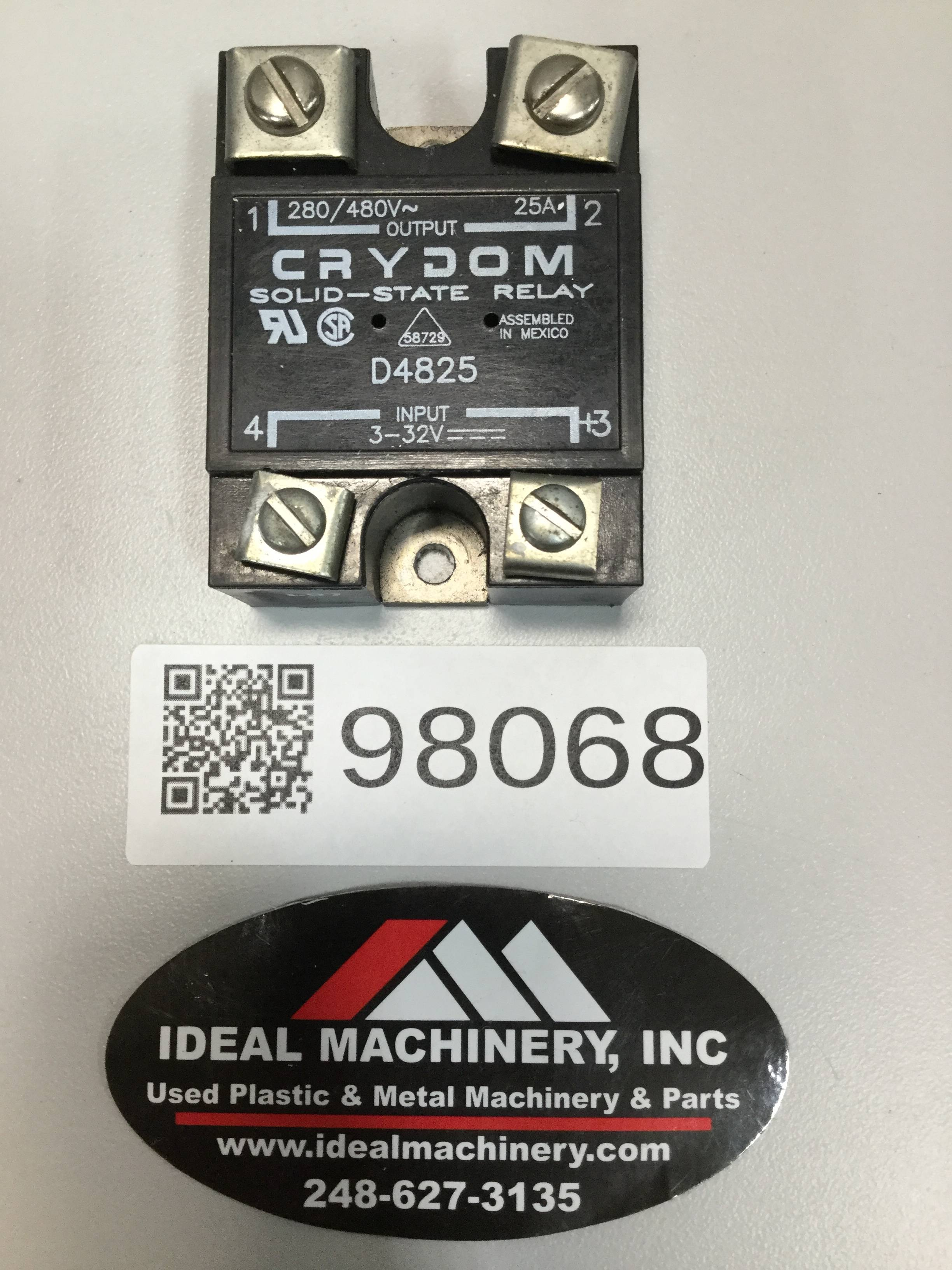 Crydom D4825 Ideal Machinery Inc Solid State Relay 98068