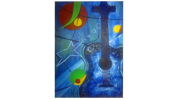 Cerati: Pintura homenaje.
