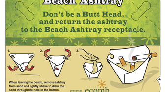 REUSABLE BEACH ECO-ASHTRAY