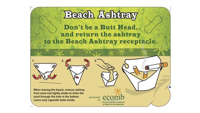 REUSABLE BEACH ECO-ASHTRAY