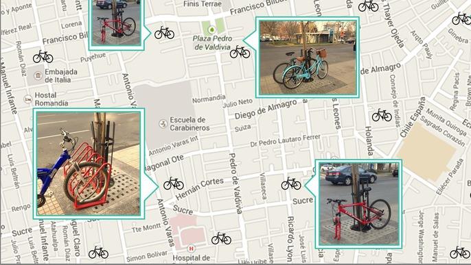Mapa virtual para bicicletas