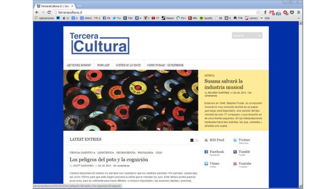 TERCERA CULTURA: #THELIBRO