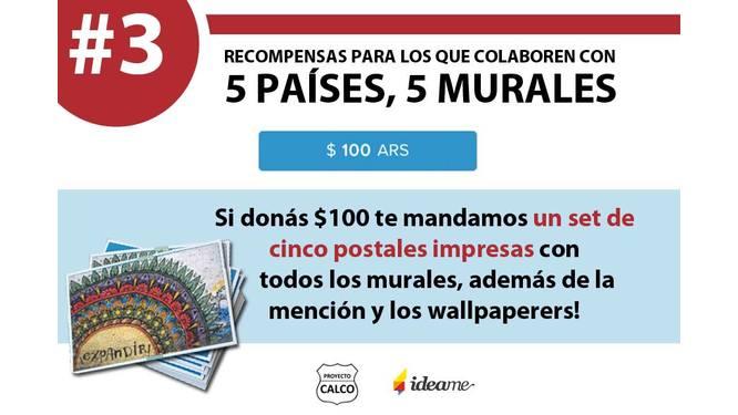 5 países, 5 murales