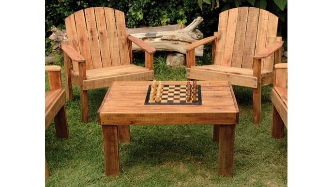 Muebles de madera reciclada ideame for Proyecto de muebles de madera